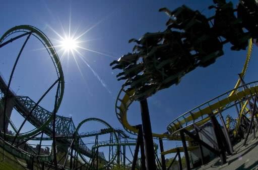 En prévision de la prochaine saison, le parc d'amusement... (Archives La Presse)