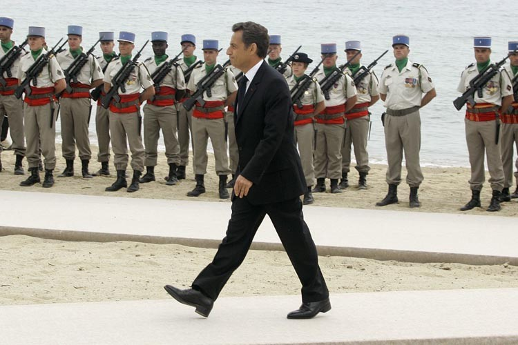Nicolas Sarkozy, à Sainte-Maxime.... (Photo: AP)