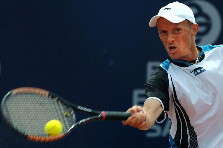 Nikolay Davidenko a battu Mardy Fish 6-4, 6-3,... (Photo: AFP)