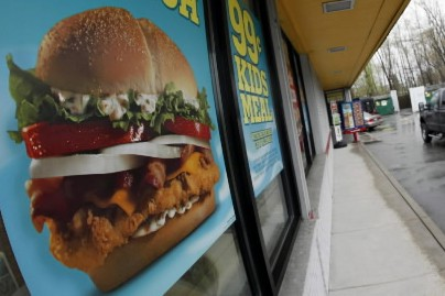 Une publicité de Burger King... (Photo: AP)