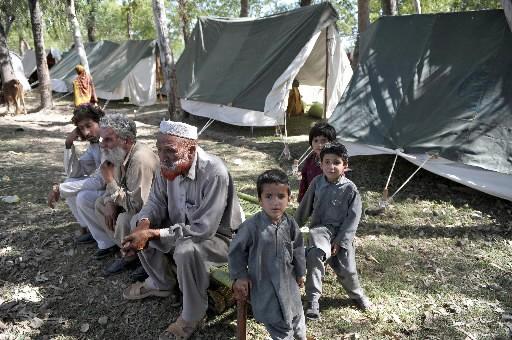 Des déplacés du Pakistan... (Photo: AFP)