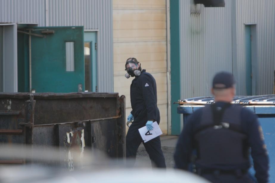 Des policiers de la GRC ont utilisé de... (Photo: Patrick Sanfaçon, La Presse)