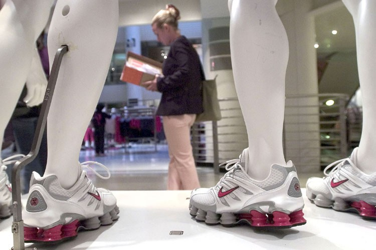 Le fabricant américain d'articles de sport Nike a publié... (Photo: Bloomberg)