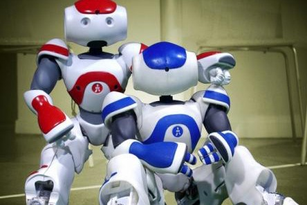 Les prototypes de Nao, développés par le premier...