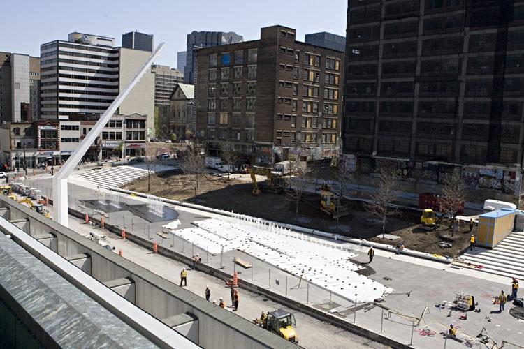 Une vue du futur Quartier des spectacles en... (Photo: François Roy, La Presse)