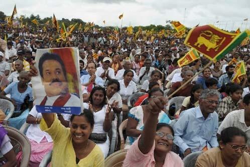 Une foule enthousiaste a assisté au discours du... (Photo AFP)
