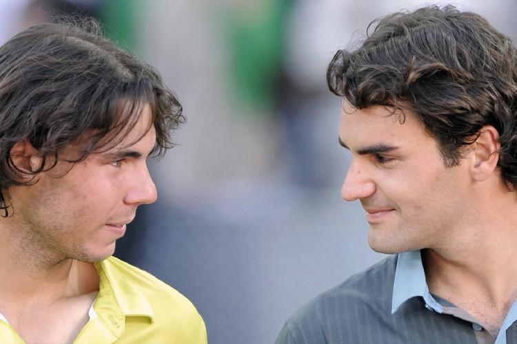 Rafael Nadal (à gauche) et Roger Federer.... (Photo: AFP)