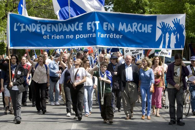 Quelque 500 manifestants ont défilé au parc Lafontaine... (Photo: Robert Skinner, La Presse)