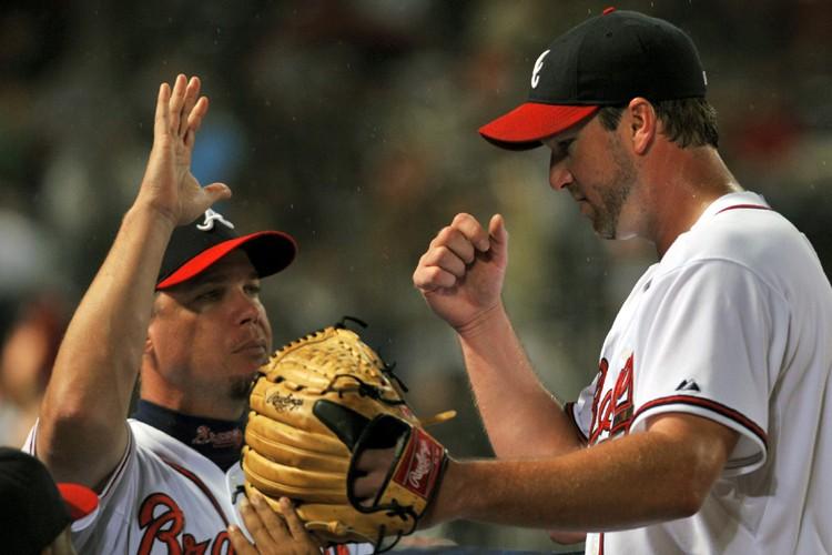 Les Braves d'Atlanta ont marqué sept points en septième, dimanche,... (Photo: AP)