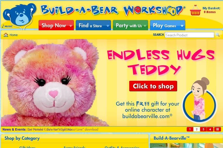 Le site Build-A-Bearville.com...
