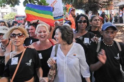 Lala sexologue Mariela Castro, fille du président cubain... (Photo: AFP)