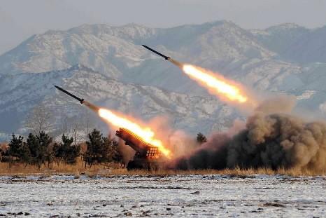 La Corée du Nord a procédé lundi aux tirs d'essai de cinq... (Photo: AFP)