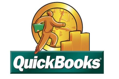 Le logo du logiciel Quickbooks...