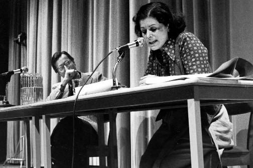 Louise Harel et Robert Bourassa en 1979.... (Photo: Pierre Côté, archives La Presse)