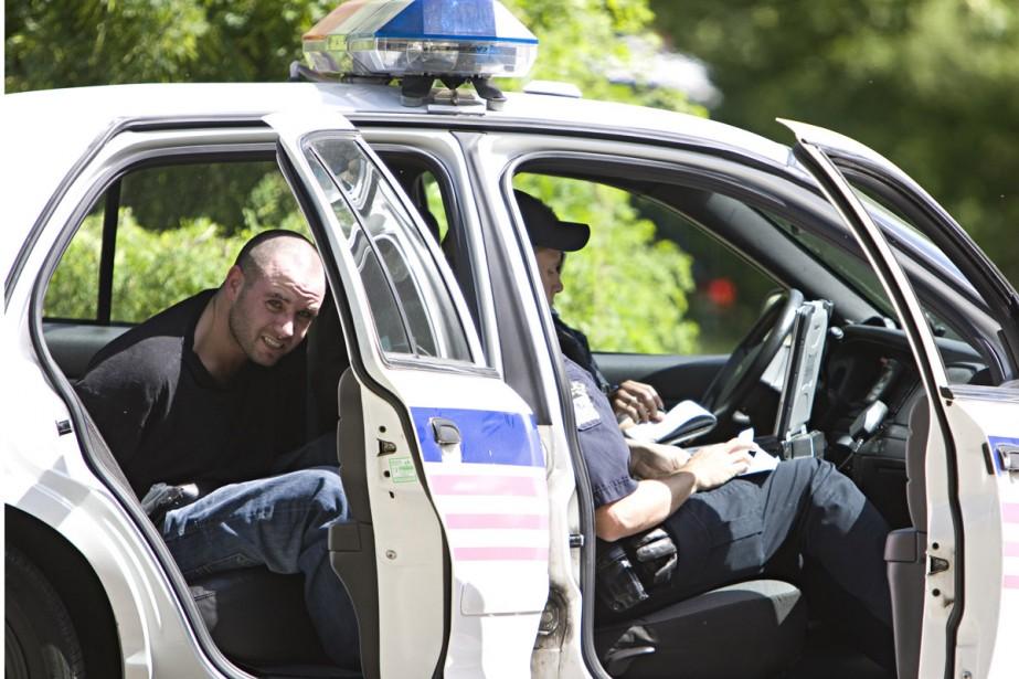 Le fuyard a été arrêté après s'est retrouvé... (Photo: François Roy, La Presse)