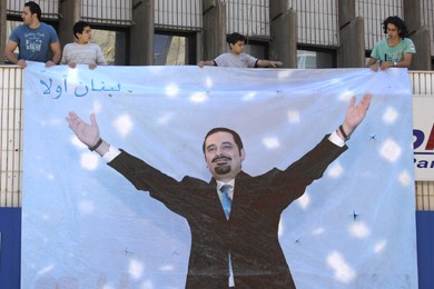 Les partisans de Saad Hariri, le grand vainqueur... (Photo: Reuters)