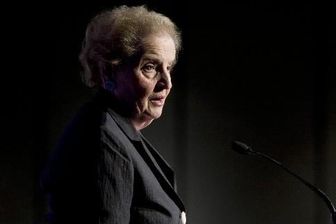 Madeleine Albright, secrétaire d'État sous la présidence de... (Photo: AP)