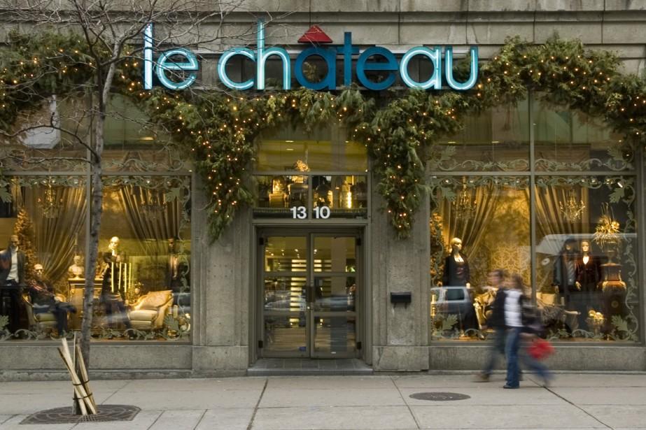 Le détaillant de vêtements Le Château ( (Photo: Martin Chamberland, La Presse)