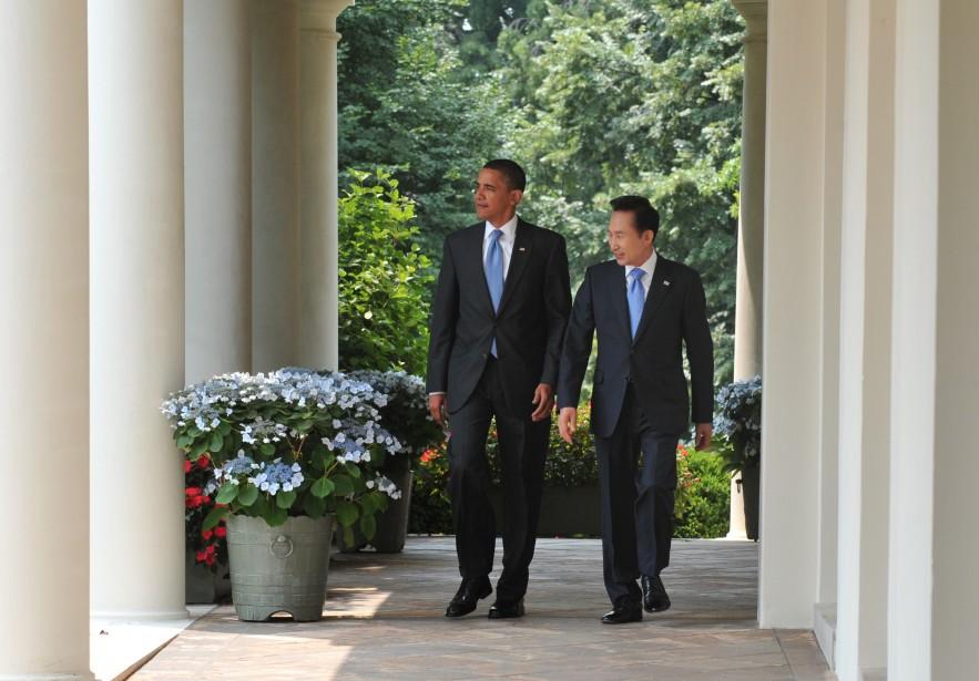 Le président américain Barack Obama et son homologue... (Photo: AFP)
