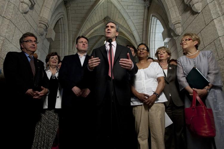 Le chef libéral Michael Ignatieff a tenu un... (Photo: PC)