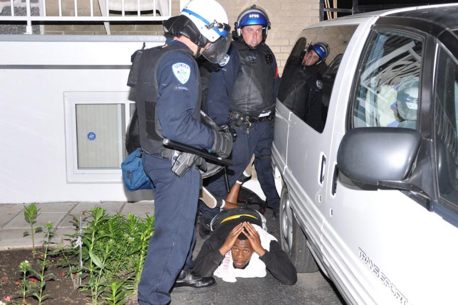 Neuf personnes, toutes adultes, ont été arrêtées lors... (Photo: Jean-Pierre Rancourt, collaboration spéciale)