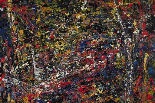 «Jouet», un tableau de Jean Paul Riopelle... (Photo: PC)