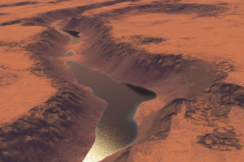 Des nouvelles images transmises par la sonde orbitale Mars... (Photo AP)