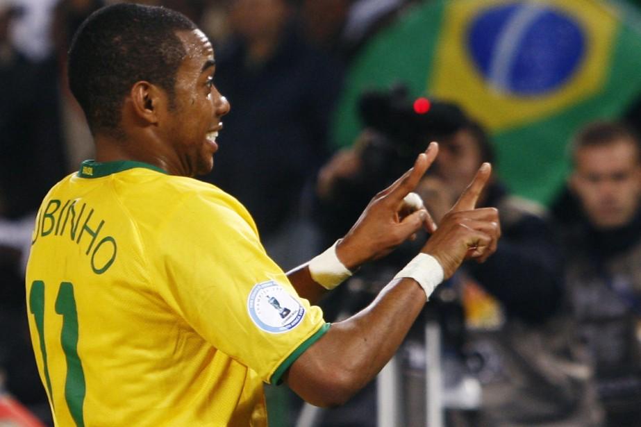 Le Brésilien Robinho... (Photo: AFP)