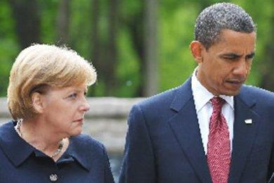 Angela Merkel et Barack Obama.... (Photo: AFP)