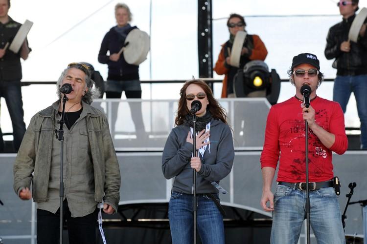 Richard Séguin, Mara Tremblay et Daniel Boucher ont... (Photo: Martin Martel, Le Soleil)