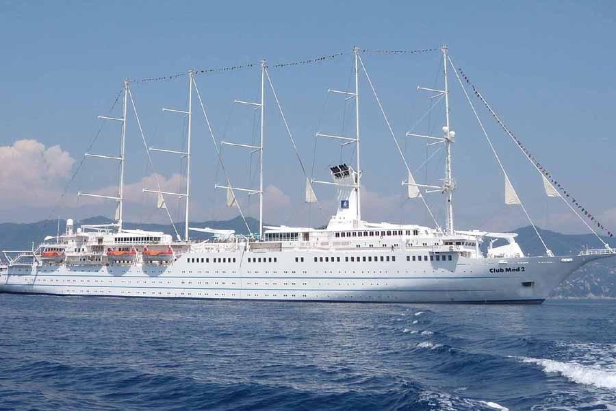 Le cinq-mâts Club Med 2.... (Photo: Marie-Christine Blais, La Presse)