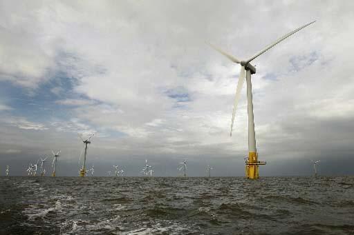 Un parc éolien au large de Norfolk, en... (Photo AFP)