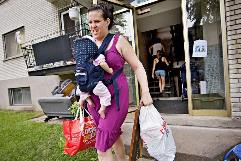 Caroline Pelletier part avec sa famille s'installer dans... (Photo: Patrick Sanfaçon, La Presse)