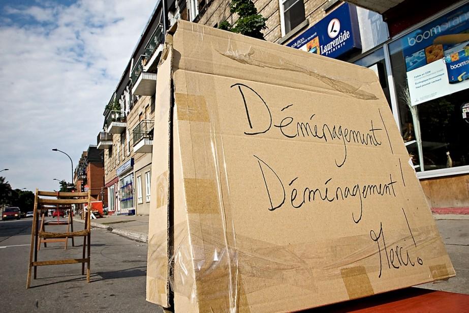 Une simple balade dans le quartier... (Photo: Patrick Sanfaçon, La Presse)