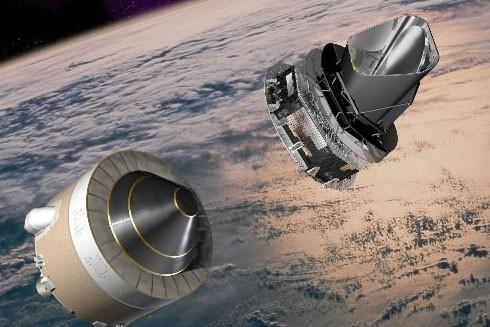 Les satellites Herschel et Planck... (Photo: AP)