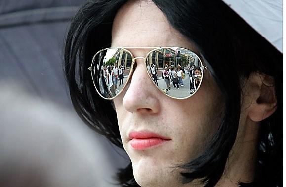 Fan de Michael Jackson, le Montréalais Thierry Marceau... (Photo: AP)
