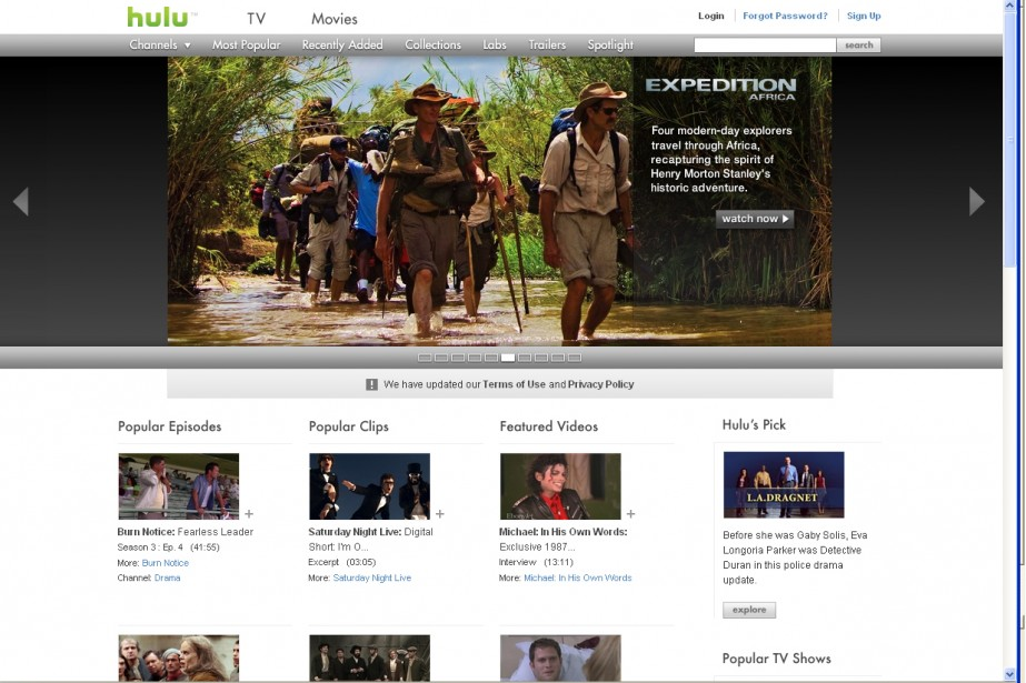 L'éventuelle entrée en Bourse du site... (Capture d'écran du site hulu.com)