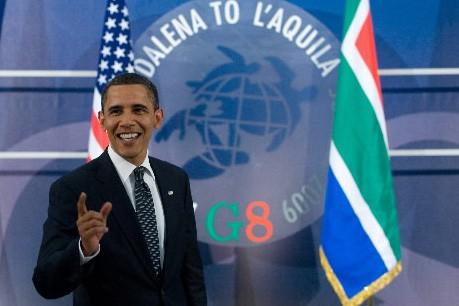 Barack Obama lors du sommet du G8 à... (Photo: AFP)