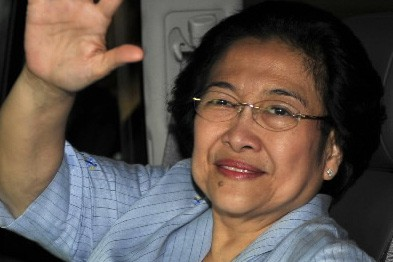 Megawati Sukarnoputri, candidate de l'opposition à l'élection présidentielle... (Photo: AFP)