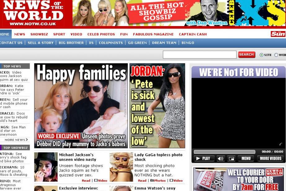 Le tabloïd News of the World...