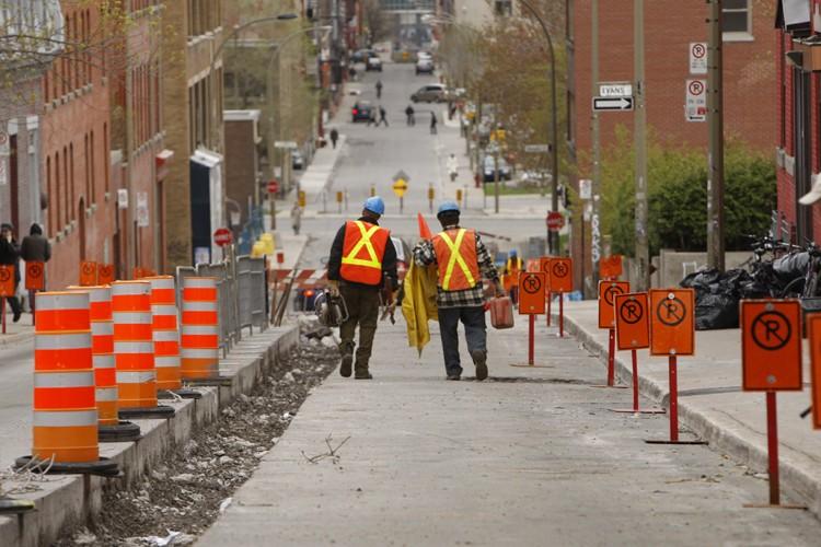 Le nombre de chantiers routiers fracasse un record... (Photo: Martin Chamberland, La Presse)