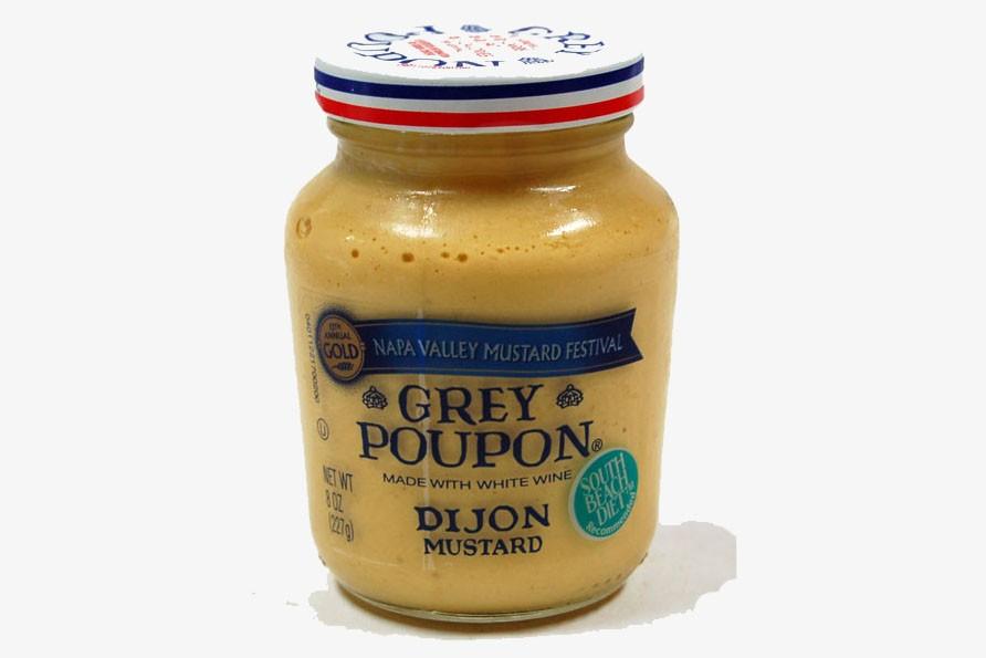 Un pot de moutarde Grey & Poupon...