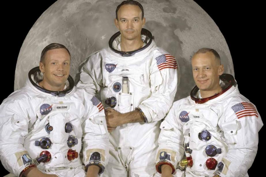 Neil Armstrong, Buzz Aldrin et Michael Collins avant... (Archives AFP)