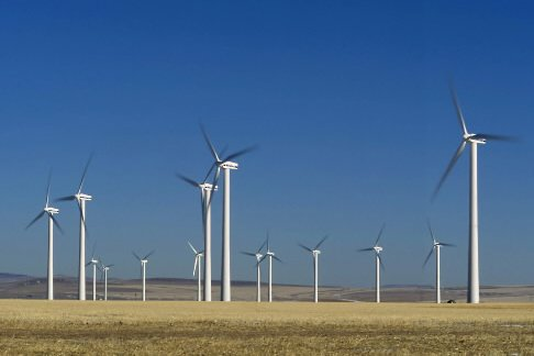 Des éoliennes de TransAlta en Alberta.... (Photo Marketwire/TransAlta)
