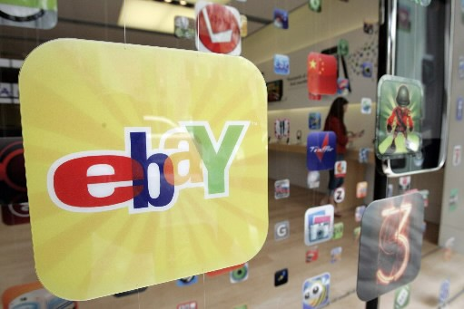 Le groupe de distribution sur internet eBay a publié mercredi... (Photo AP)