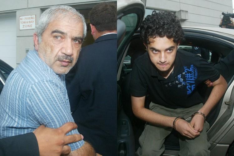 Mohammed Shafia et son fils Hamed.... (Photos: The Toronto Star)