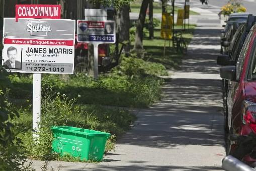 La baisse appréhendée des prix des propriétés... (Photo: David Boily, La Presse)