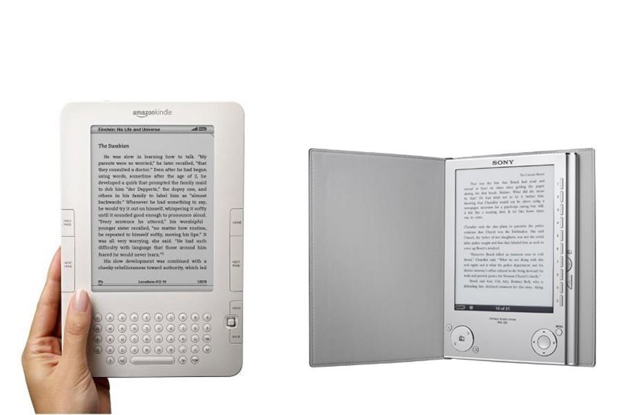 Le Kindle 2 et le Sony Reader PRS-700...