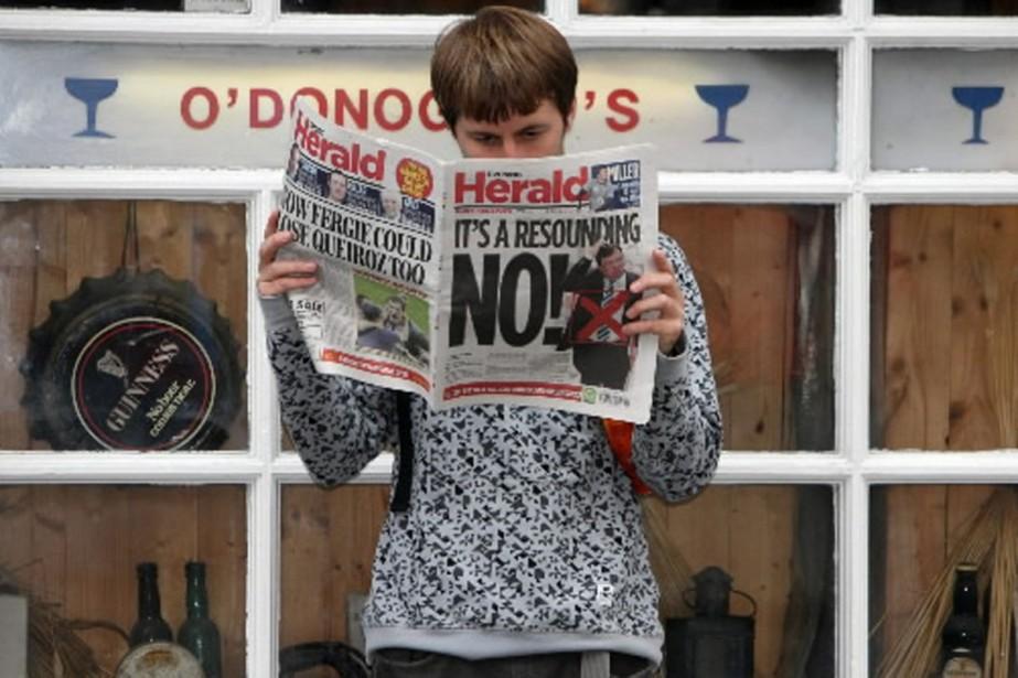 En 2008, 53,4% des Irlandais avaient rejeté le... (Photo AP)