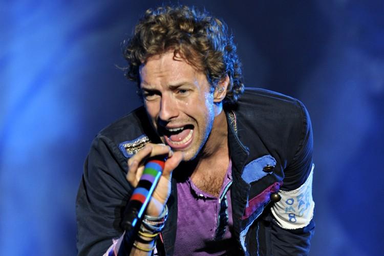 Le chanteur du groupe Coldplay, Chris Martin. Le... (Photo: Bernard Brault, La Presse)